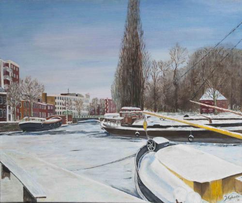 Stad Groningen Noorderplantsoen - 2011 - Acryl schilderij