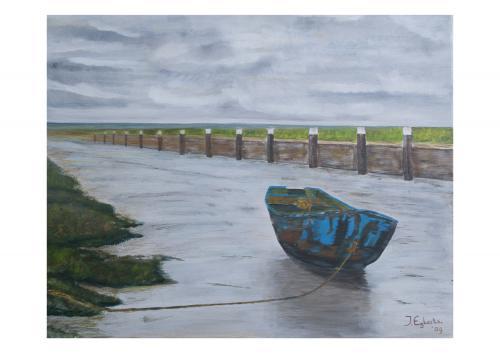 Haven Noordpolderzijl - 2009 - Acryl schilderij