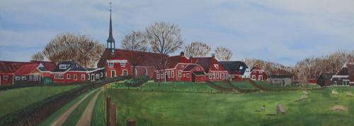 Niehove - 2008 - Acryl schilderij 90 x 40 cm