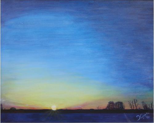 Peizermade gezien vanaf de Onlanden - 2001 - olieverf schilderij