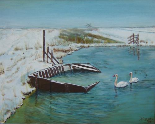 Noord-Holland - 2002 - olieverf schilderij