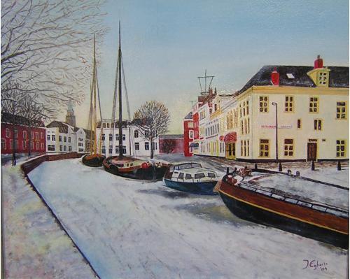 Oosterkade - 2004 - Olieverf schilderij