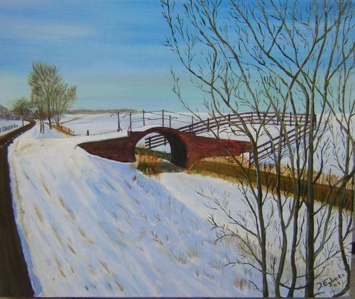 Munnikezijl - 2005 - olieverf schilderij